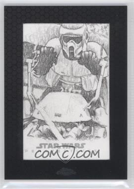 2014 Topps Star Wars Chrome Perspectives Sketch Cards #BSST - Bob Stevlic (Stormtrooper)