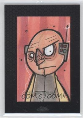 2014 Topps Star Wars Chrome Perspectives Sketch Cards #CHLO - Chris Hamer (Lobot)