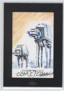 2014 Topps Star Wars Chrome Perspectives Sketch Cards #JZAT - Jeff Zapata (AT-ATs)