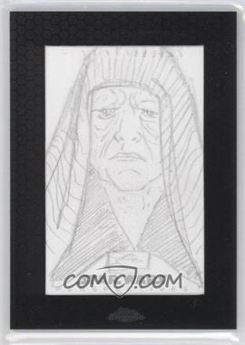 2014 Topps Star Wars Chrome Perspectives Sketch Cards #UAEP - Unknown Artist (Emperor Palpatine)