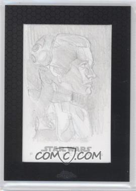 2014 Topps Star Wars Chrome Perspectives Sketch Cards #UAPL - Unknown Artist (Princess Leia)