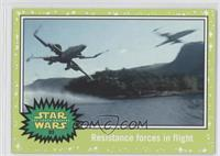 The Force Awakens - Resistance forces in flight