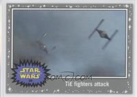The Force Awakens - TIE fighters attack