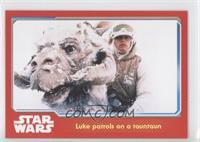 Luke patrols on a tauntaun