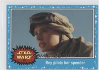 The Force Awakens - Rey pilots her speeder