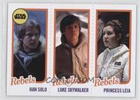 Han Solo, Luke Skywalker, Princess Leia Organa #/989
