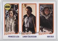 Princess Leia Organa, Lando Calrissian, Han Solo /989