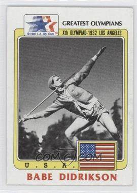 1983 History's Greatest Olympians - [Base] #39 - Babe Didrikson