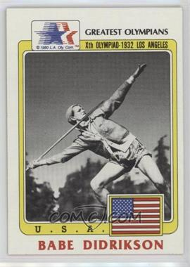 1983 History's Greatest Olympians #39 - Babe Didrikson