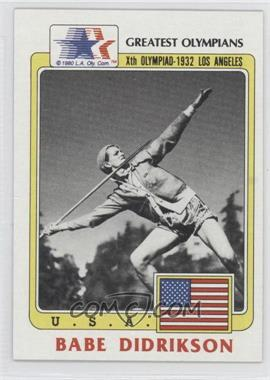 1983 History's Greatest Olympians #39 - [Missing]