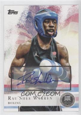 2012 Topps U.S. Olympic Team and Olympic Hopefuls - [Base] - Silver Autographs [Autographed] #2 - Rau'Shee Warren /30