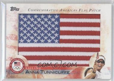 2012 Topps U.S. Olympic Team and Olympic Hopefuls - Commemorative American Flag Patch #FLP-AT - Anna Tunnicliffe