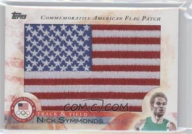 2012 Topps U.S. Olympic Team and Olympic Hopefuls - Commemorative American Flag Patch #FLP-NS - Nick Symmonds