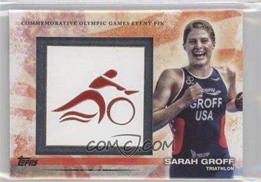 2012 Topps U.S. Olympic Team and Olympic Hopefuls - Commemorative Olympic Games Event Pin #ELP-SG - Sarah Groff