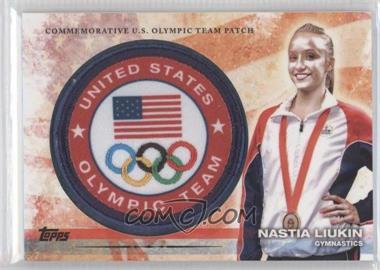 2012 Topps U.S. Olympic Team and Olympic Hopefuls - Olympic Team Manufactured Patch #ULP-NL - Nastia Liukin