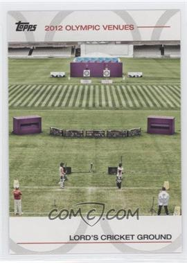 2012 Topps U.S. Olympic Team and Olympic Hopefuls - Olympic Venues #SOV-15 - Lord's Cricket Ground