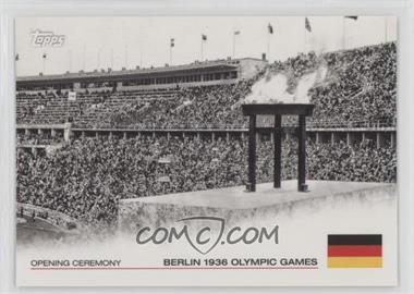 2012 Topps U.S. Olympic Team and Olympic Hopefuls - Opening Ceremony #OC-10 - Berlin 1936 Olympic Games