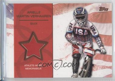 2012 Topps U.S. Olympic Team and Olympic Hopefuls - Relics - Bronze #OR-AMV - Arielle Martin Verhaaren /75