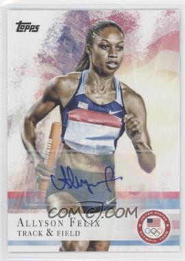 2012 Topps U.S. Olympic Team and Olympic Hopefuls Autographs [Autographed] #66 - Allyson Felix