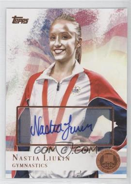 2012 Topps U.S. Olympic Team and Olympic Hopefuls Bronze Autographs [Autographed] #43 - Nastia Liukin /50