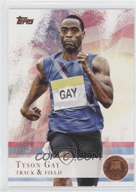 2012 Topps U.S. Olympic Team and Olympic Hopefuls Bronze #10 - Tyson Gay