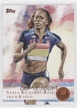 2012 Topps U.S. Olympic Team and Olympic Hopefuls Bronze #30 - Sanya Richards-Ross