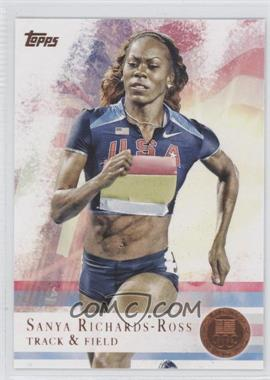 2012 Topps U.S. Olympic Team and Olympic Hopefuls Bronze #30 - Sanya Richards-Ross