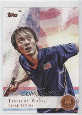 2012 Topps U.S. Olympic Team and Olympic Hopefuls Bronze #8 - Timothy Wang