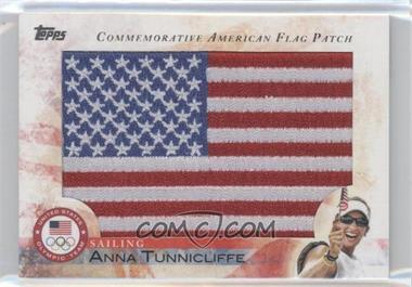 2012 Topps U.S. Olympic Team and Olympic Hopefuls Commemorative American Flag Patch #FLP-AT - Anna Tunnicliffe