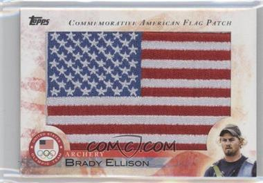 2012 Topps U.S. Olympic Team and Olympic Hopefuls Commemorative American Flag Patch #FLP-BE - Brady Ellison