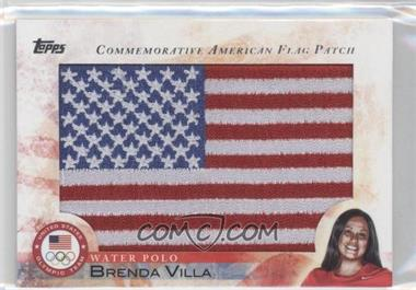 2012 Topps U.S. Olympic Team and Olympic Hopefuls Commemorative American Flag Patch #FLP-BV - Brenda Villa