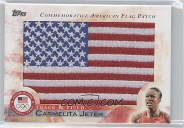2012 Topps U.S. Olympic Team and Olympic Hopefuls Commemorative American Flag Patch #FLP-CJ - Carmelita Jeter