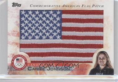 2012 Topps U.S. Olympic Team and Olympic Hopefuls Commemorative American Flag Patch #FLP-CJO - Carrie Johnson