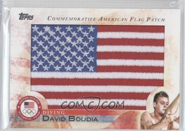 2012 Topps U.S. Olympic Team and Olympic Hopefuls Commemorative American Flag Patch #FLP-DBO - David Boudia