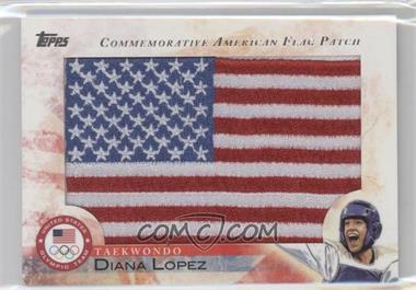 2012 Topps U.S. Olympic Team and Olympic Hopefuls Commemorative American Flag Patch #FLP-DLO - Diana Lopez