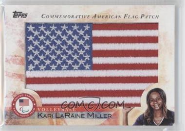 2012 Topps U.S. Olympic Team and Olympic Hopefuls Commemorative American Flag Patch #FLP-KLM - Kari LaRaine Miller