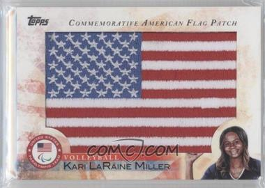 2012 Topps U.S. Olympic Team and Olympic Hopefuls Commemorative American Flag Patch #FLP-KLM - Kari LaRaine Miller