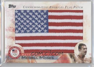 2012 Topps U.S. Olympic Team and Olympic Hopefuls Commemorative American Flag Patch #FLP-MEM - Merrill Moses
