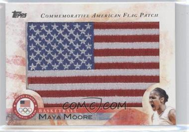 2012 Topps U.S. Olympic Team and Olympic Hopefuls Commemorative American Flag Patch #FLP-MM - Maya Moore