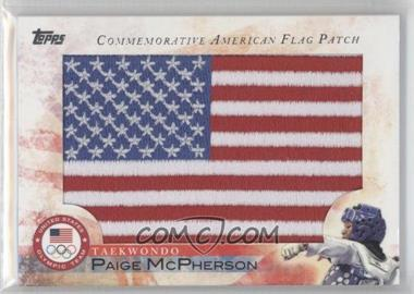2012 Topps U.S. Olympic Team and Olympic Hopefuls Commemorative American Flag Patch #FLP-PM - Paige McPherson