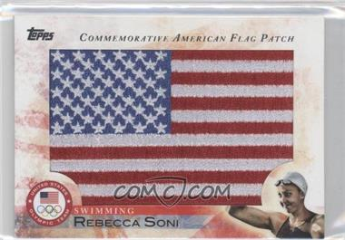 2012 Topps U.S. Olympic Team and Olympic Hopefuls Commemorative American Flag Patch #FLP-RS - Rebecca Soni