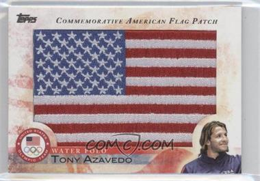 2012 Topps U.S. Olympic Team and Olympic Hopefuls Commemorative American Flag Patch #FLP-TA - Tony Azavedo