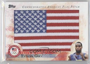2012 Topps U.S. Olympic Team and Olympic Hopefuls Commemorative American Flag Patch #FLP-TG - Tyson Gay