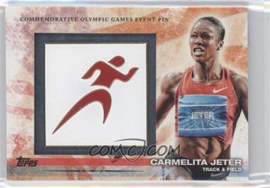 2012 Topps U.S. Olympic Team and Olympic Hopefuls Commemorative Olympic Games Event Pin #ELP-CJ - Carmelita Jeter