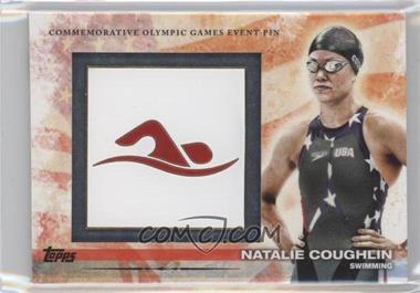 2012 Topps U.S. Olympic Team and Olympic Hopefuls Commemorative Olympic Games Event Pin #ELP-NC - Natalie Coughlin