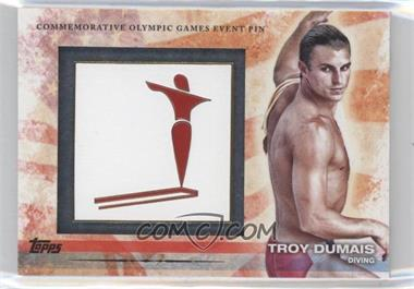 2012 Topps U.S. Olympic Team and Olympic Hopefuls Commemorative Olympic Games Event Pin #ELP-TD - Troy Dumais