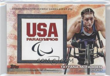 2012 Topps U.S. Olympic Team and Olympic Hopefuls Commemorative Olympic Games Event Pin #ELP-TM - Tatyana McFadden