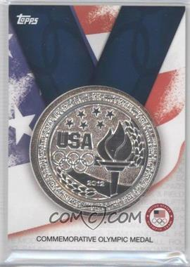 2012 Topps U.S. Olympic Team and Olympic Hopefuls Commemorative Olympic Medal #OM-S - Silver Medal