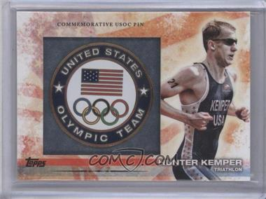 2012 Topps U.S. Olympic Team and Olympic Hopefuls Commemorative USOC Pin #PIN-HK - Hunter Kemper