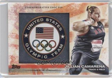 2012 Topps U.S. Olympic Team and Olympic Hopefuls Commemorative USOC Pin #PIN-JC - Jillian Camarena